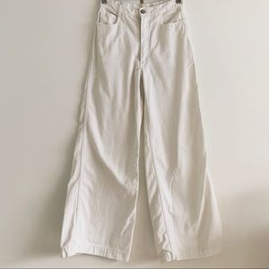 Vintage 70s Wide Leg White High Rise Sailor Jeans